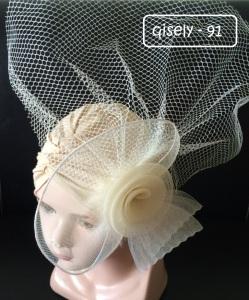 QISELY 91 - 55.000 (Turban hiasan bunga besar untuk usia 0-3 tahun)